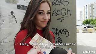 Euro babe accepts cash for a good cause of fuck on cam