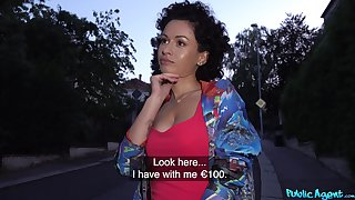 Superb MILF accepts cash to fellow-feeling a amour rise an obstacle cam