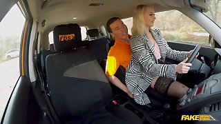 Blonde chick wants chum around with annoy dick instead be advantageous to learning how to drive