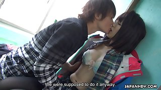 Japanese seagoing man girl Sena Sakura squirts riding hard dick and gets her pussy creampied