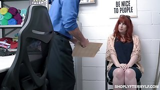 Curvaceous bodkin milf Amber Dawn gets punished for shoplifting