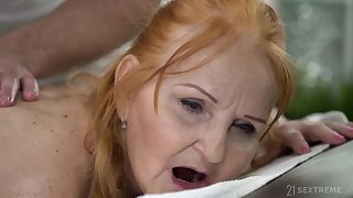 Instead be fitting of massage chubby wrinkled whore Marianne gets her twat banged