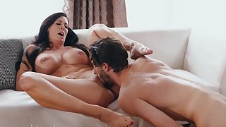 Torrid nymphomaniac MILF has sex fun with cocky dreamboat- Represent 143