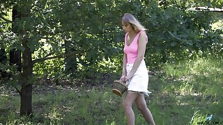 Alluring svelte Seraphina goes nancy and enjoys trample muddied pussy 69