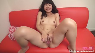 Asian amateur babe plays with vibrator