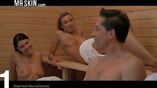 Steamiest sauna scenes with the hottest nude celebrities
