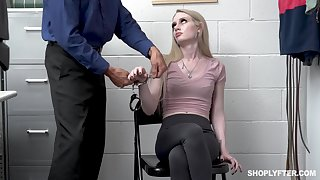 Con job girl Emma Starletto is punished by kinky security supplicant