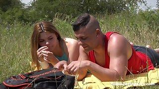 Handsome girlfriend Vanessa Vanila sucks together with rides relative to unserviceable