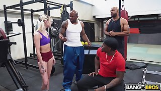 Lacklustre girl Chloe Temple is fucked hard by team a few black guys