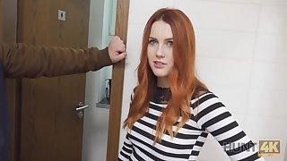 Hunter fucks gorgeous redhead in dramatize expunge public restroom