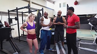 BBC gangbang at the gym with beautiful unspecific Chloe Temple