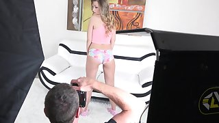 Randy girl Emily Chase does her best in new casting video