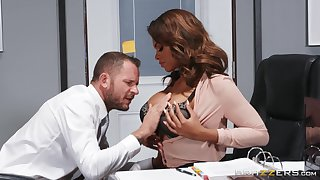 Passionate office MILF specialization white inches in the matter of a perfect interracial scene
