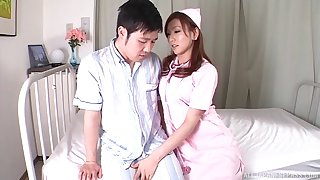 Amateur fucking between a accidental guy and Japanese nurse Emi Harukaze