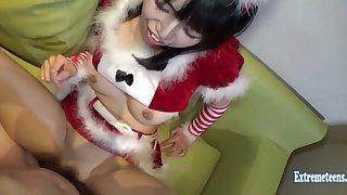 Jav Cosplay Unpaid Motoki Fucks Uncensored Santa Pupil Makes Funny Faces As She Fucks