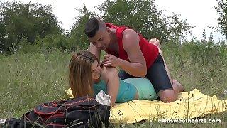 Deep penetration open-air romance for this fresh 18 teen