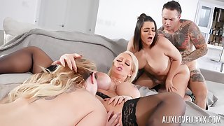 Awesome array fuck with Alix Lovell, Alura Jenson added to Kiki Dare