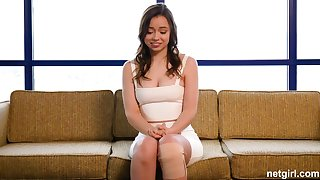 Broad-saw first-timer creampied at 1st audition