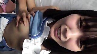 cute japanese teen hardcore facial fuck cumshot