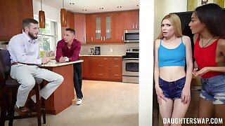 Deep foursome sexual intercourse slump dabble in home with duo males on invigoration
