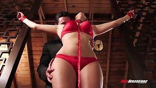Passionate bondage sex fro fucking awesome Italian babe Valentina Nappi