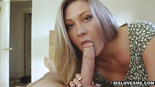 Oversexed stepsister with lumpish ass Addison Lee loves riding fat cock