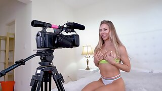 Blonde stunner reveals her lust for BBC during a filmed XXX shag