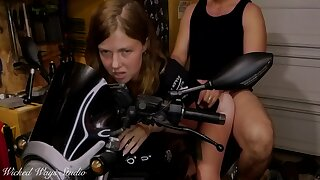 Hot Biker Babe Takes A Hard Ass Fucking Bent Jilt My Motorcycle Lavender Gladness And Corrupt