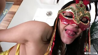 Lets Try Anal - Masked Chick Fucks Will not hear of Friend's Man 1 - Big Tits