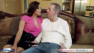 Having turned stud vulnerable with BJ staggering MILF Francesca Le fucks doggy