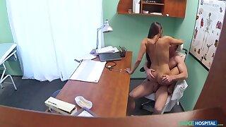 Young doctor fucks his sexy new nurse