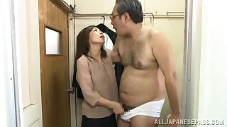 Asian beauty pumps patriarch inches about the brush bed out