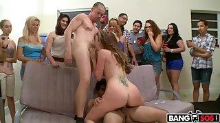 Pornstar party at a abode party