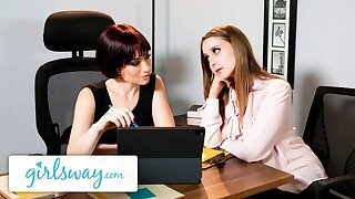 GIRLSWAY – Laney Age-old is OBSESSED fro MILF Boss Jessica Ryan