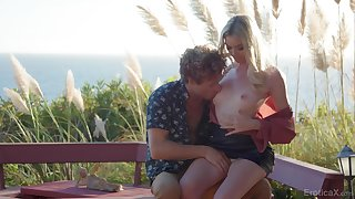 Blonde teen vixen Anny Aurora pounded doggy style outdoors