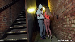 Comme �a teen whore with a pierced tongue Carmel Anderson swallows cum