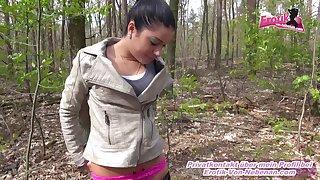 german petite latina teen outdoor pov