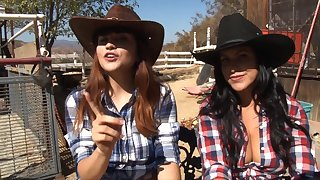 Throw a monkey wrench into the machinery lesbian teen couple Lacie James and Raquel Roper