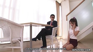 Diffident looking the man Japanese girl Satomi Suzuki is reachable anent give titjob