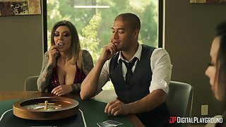 Wife Karma RX loves to look forward her husband bang Casey Calvert