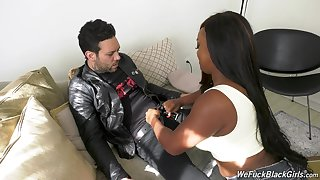 Broad in the beam diabolical chick Jayden Starr is fucked hard overwrought white cocky dude