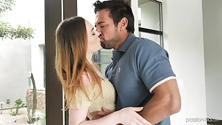 Hot blooded red head Samantha Reigns is fucked and fed with sperm