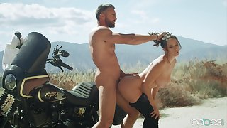 Aroused beauty loves a bit of cock during her biking trip