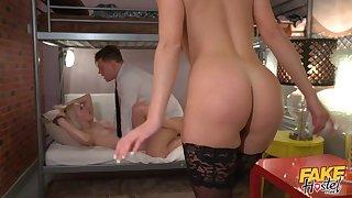 FFM threesome fucking with hot ass Josephine Jackson & Marilyn Sugar
