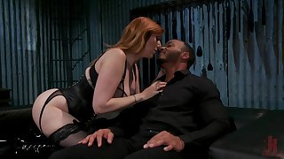 Submissive coxcomb is fucked by hot dominatrix with huge tits Lauren Phillips
